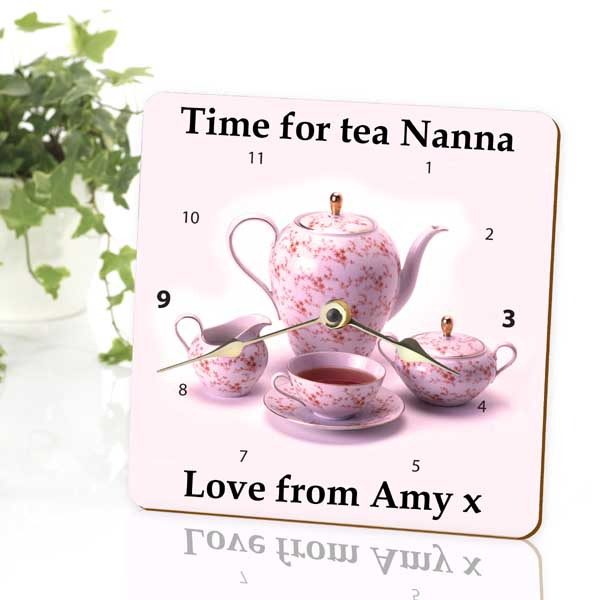 Time For Tea Personalised Clock