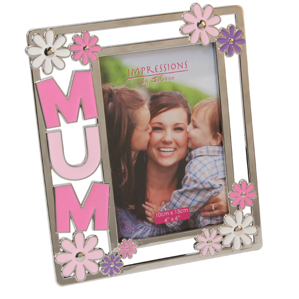 Mum Photo Frame with Pink Flowers - Pink Gifts