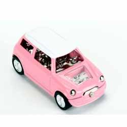 Pink Mini Miniature Clock