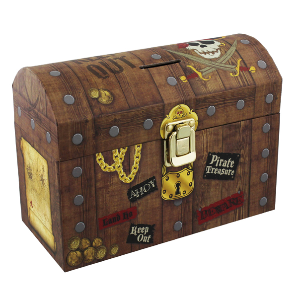 Pirate Treasure Chest Money Box - Pirate Gifts