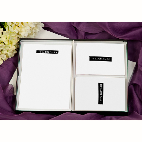 Plain Block Personalised Thank You Stationery Postcards and Cards - Stationery Gifts