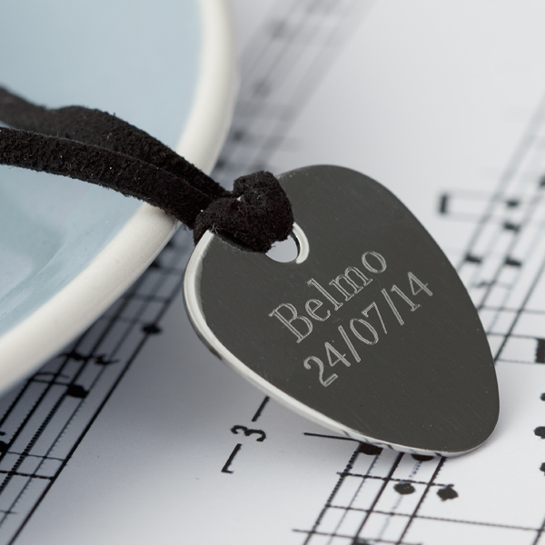 Engraved Guitar Plectrum - Guitar Gifts