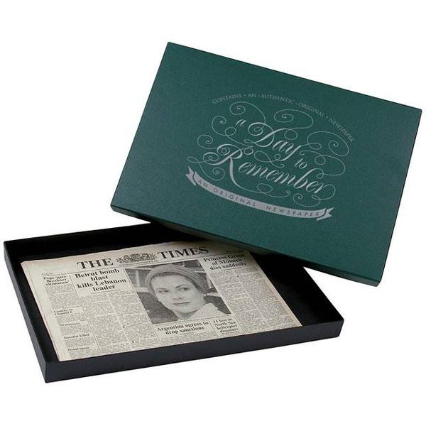 Premium Gift Boxed Original Newspaper