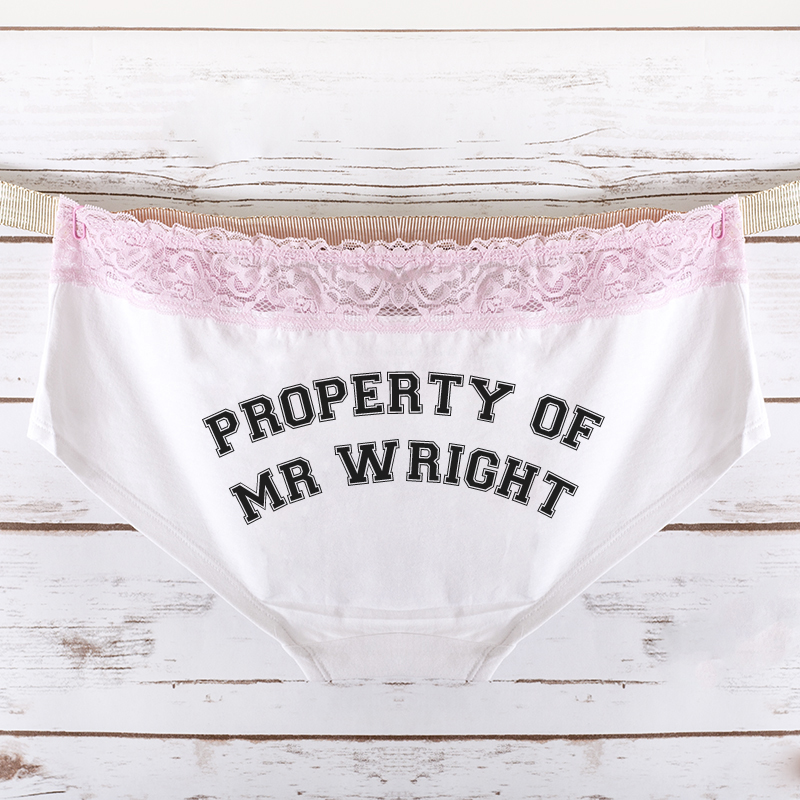 Wedding Personalised Property Of Ladies Hipster Briefs
