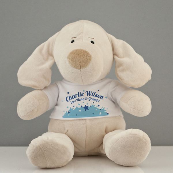 Personalised My First Puppy Soft Toy - Baby Boy - Baby Boy Gifts