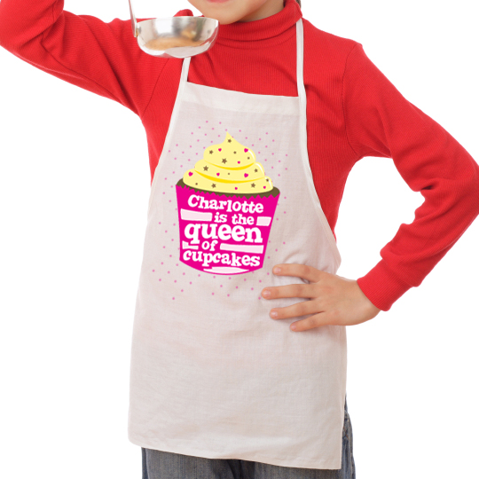 Personalised Queen Of Cupcakes Childrens Apron