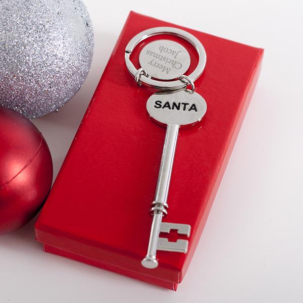 Personalised Shiny Santa Key - Shiny Gifts