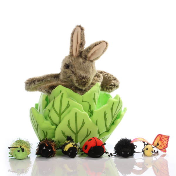 Rabbit in a Lettuce - Hide-away Puppet