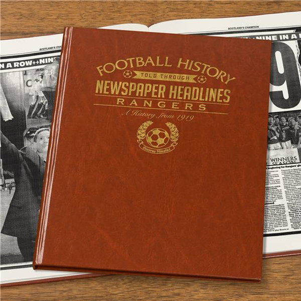 Personalised Rangers Football Book Non-Embossed - Rangers Gifts
