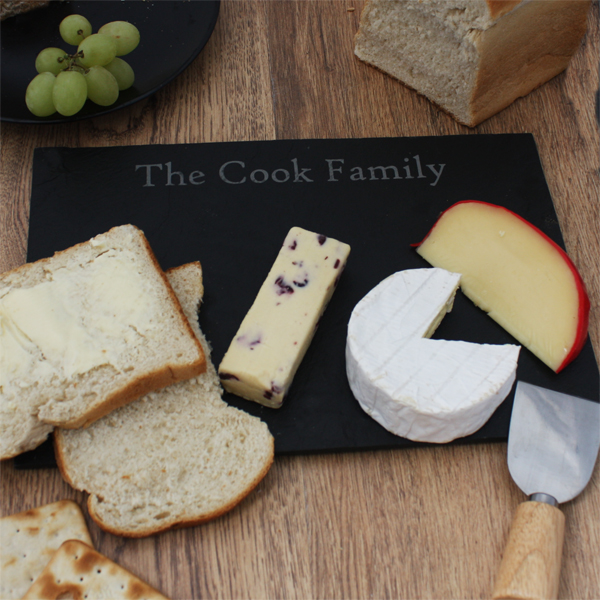 Personalised Rectangle Slate Cheese Board Large - Cheese Board Gifts