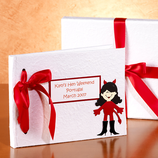 Hen Night Personalised Photo Album Red Devil - Hen Night Gifts
