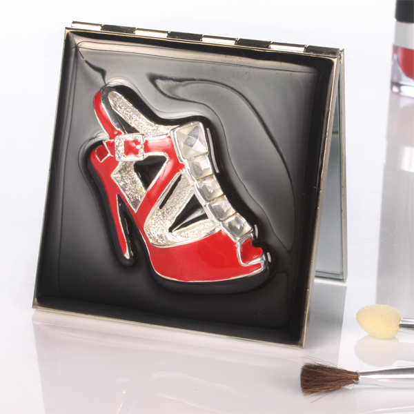 Personalised Red Shoe Compact Mirror - Mirror Gifts
