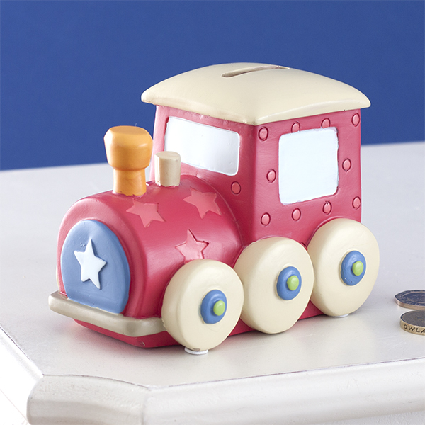 Red Train Kiddiwinks Money Box - Train Gifts