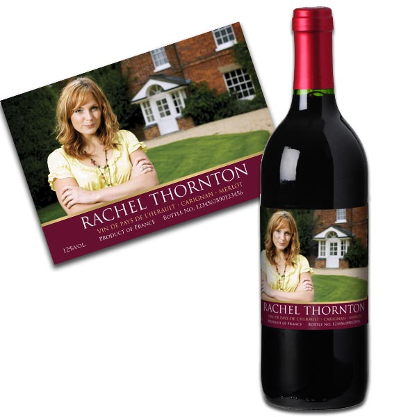 Red Wine With Personalised Photo Label Case of 12