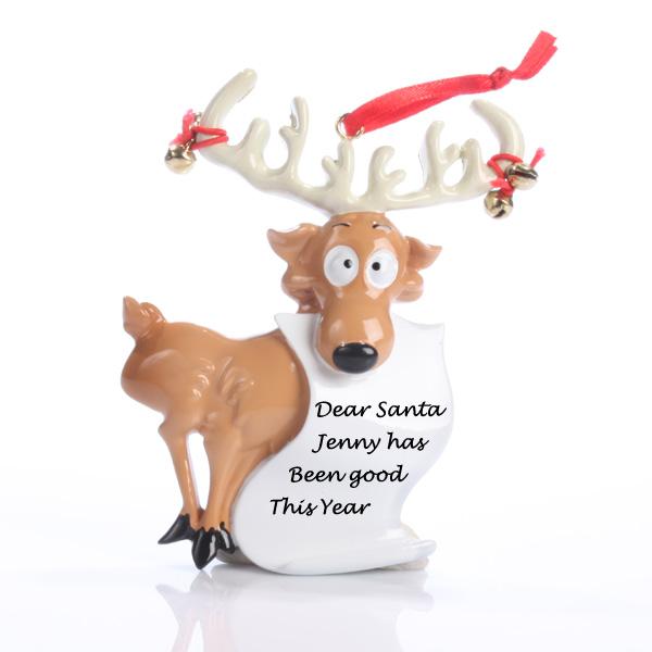 Reindeer Scroll Ornament - Reindeer Gifts