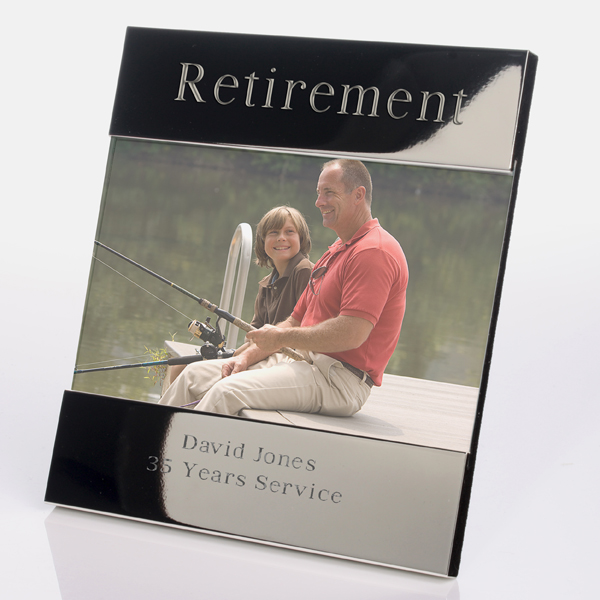 Engraved Retirement Photo Frame