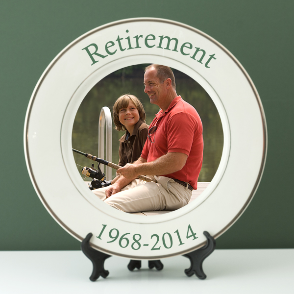 Personalised Retirement Photo Plate