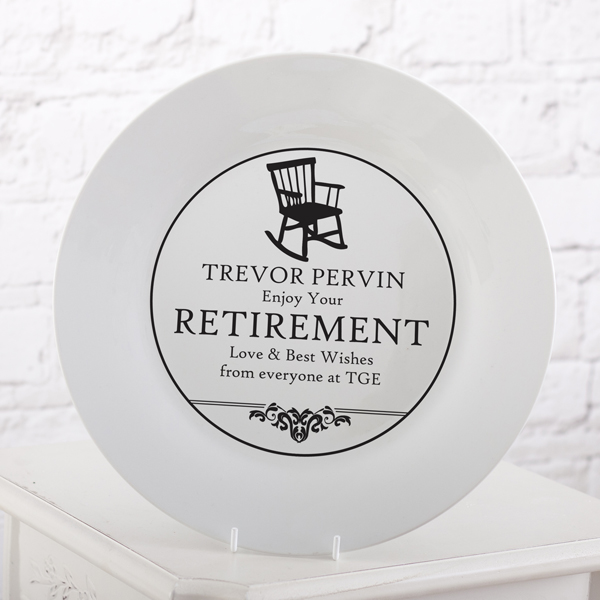 Personalised Retirement Plate