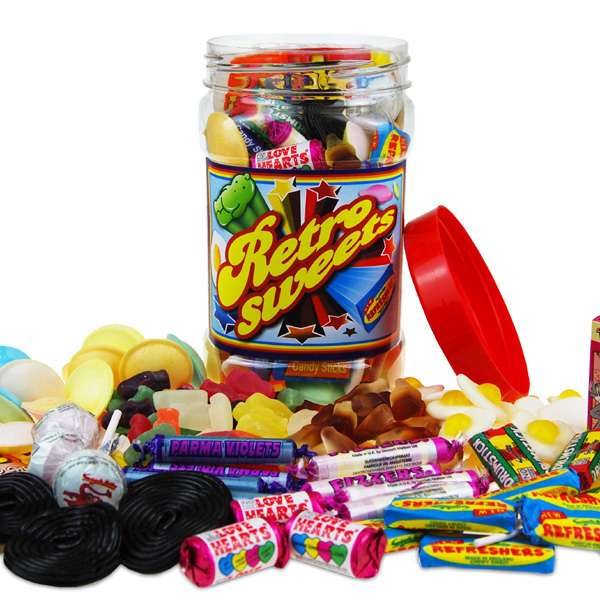 Retro Sweets Retro Sweet Jar - 50th gift