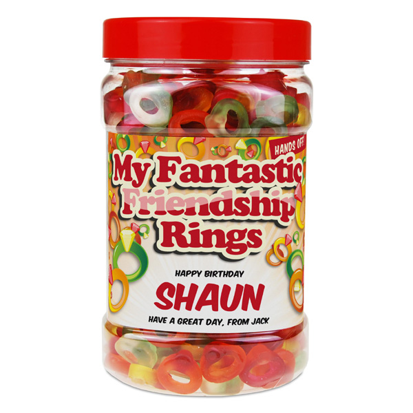 Personalised Fantastic Friendship Rings Jar - Friendship Gifts