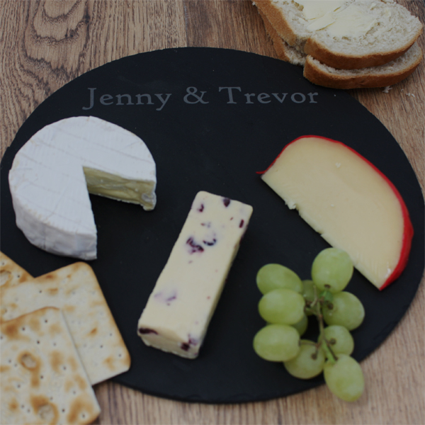 Personalised Round Slate Cheese Board - Cheese Board Gifts