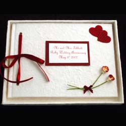 Personalised Ruby Anniversary Album