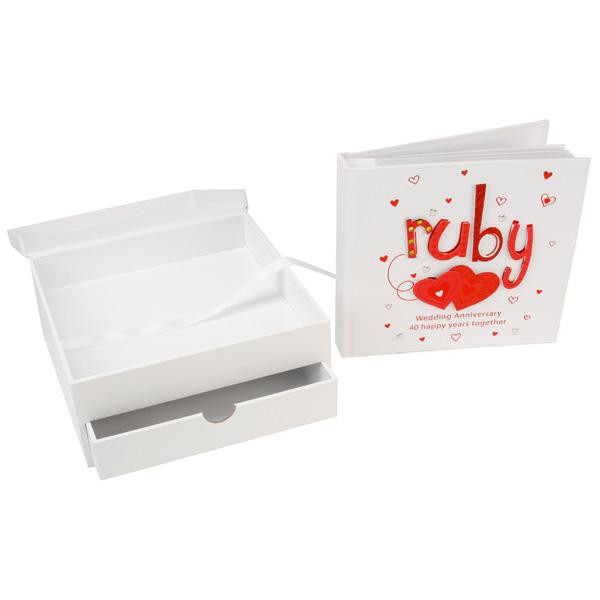 ruby anniversary keepsake box and photo album