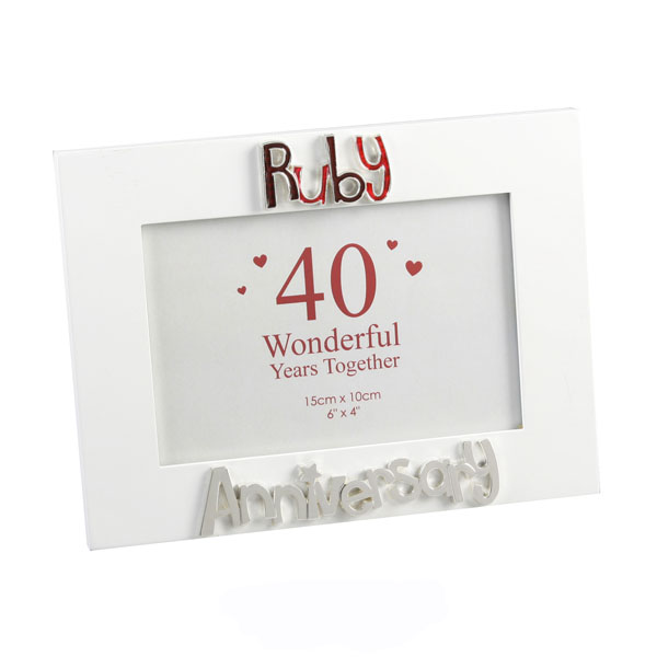 Ruby Anniversary Photo Frame - Ruby Wedding Anniversary Gifts