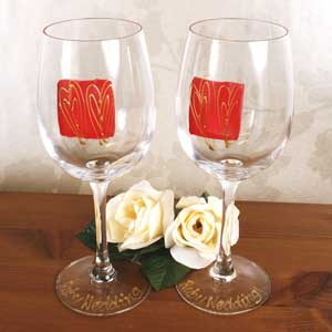 Pair Of 40th Anniversary Wine Glasses - 40th Gifts