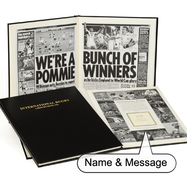 Personalised - 100 Year English Rugby History Book Non-Embossed