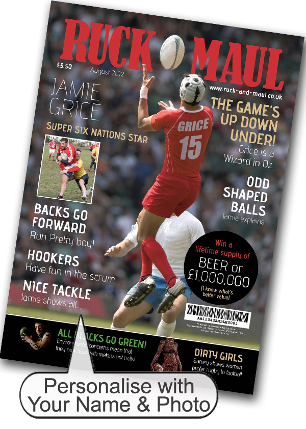 Rugby Magazine Spoof Print Only