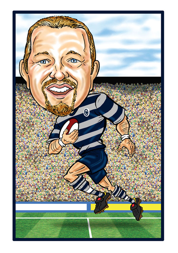 Personalised Sports Caricature - Rugby