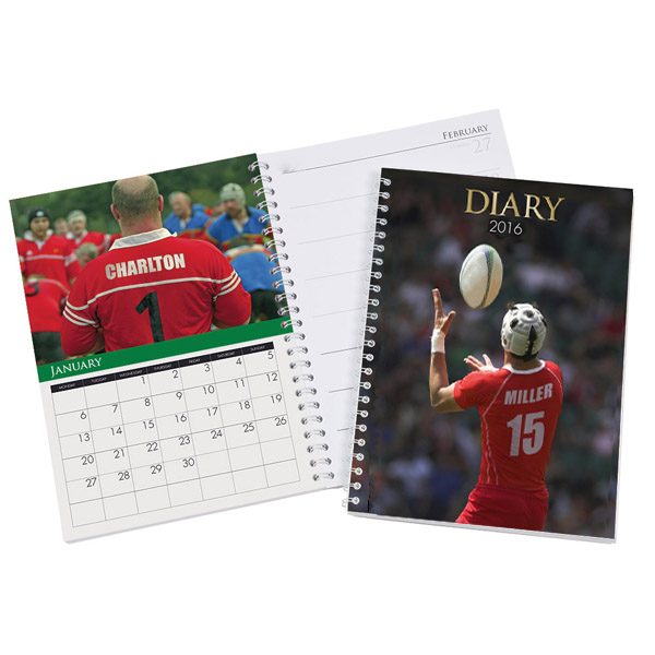 Personalised Rugby Image Diary