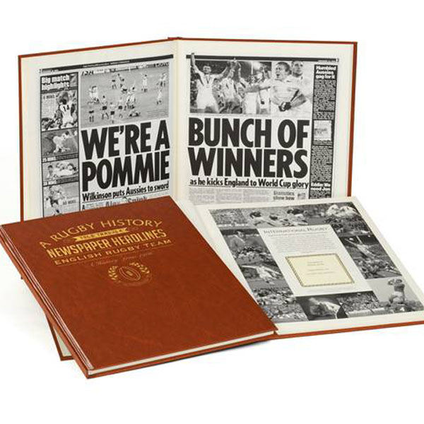 Personalised - 100 Year English Rugby History Book Embossed