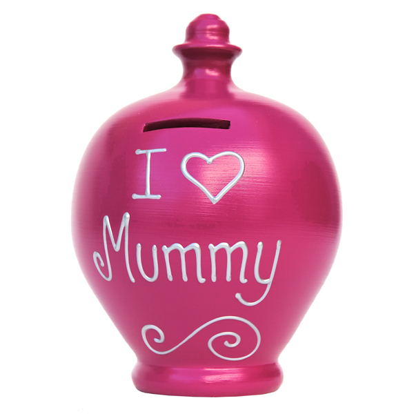 Personalised I Love Mummy Terramundi Money Pot - Money Gifts