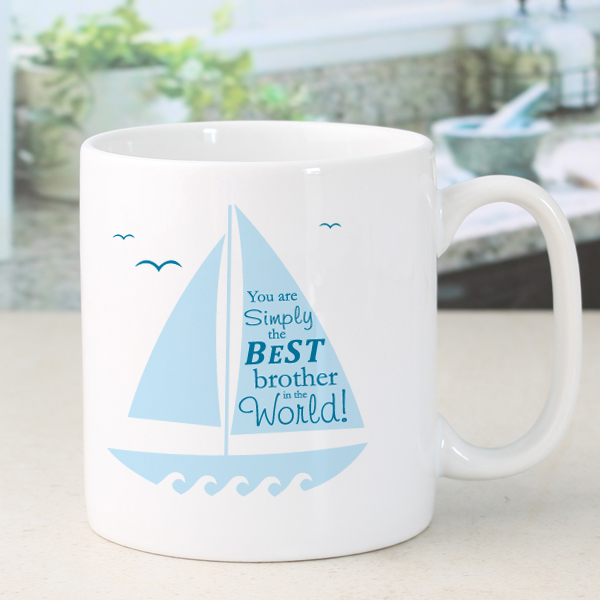 Personalised Simply The Best Sailing Design Mug - Sailing Gifts