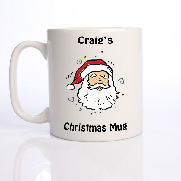 Personalised Christmas Mug - Santa
