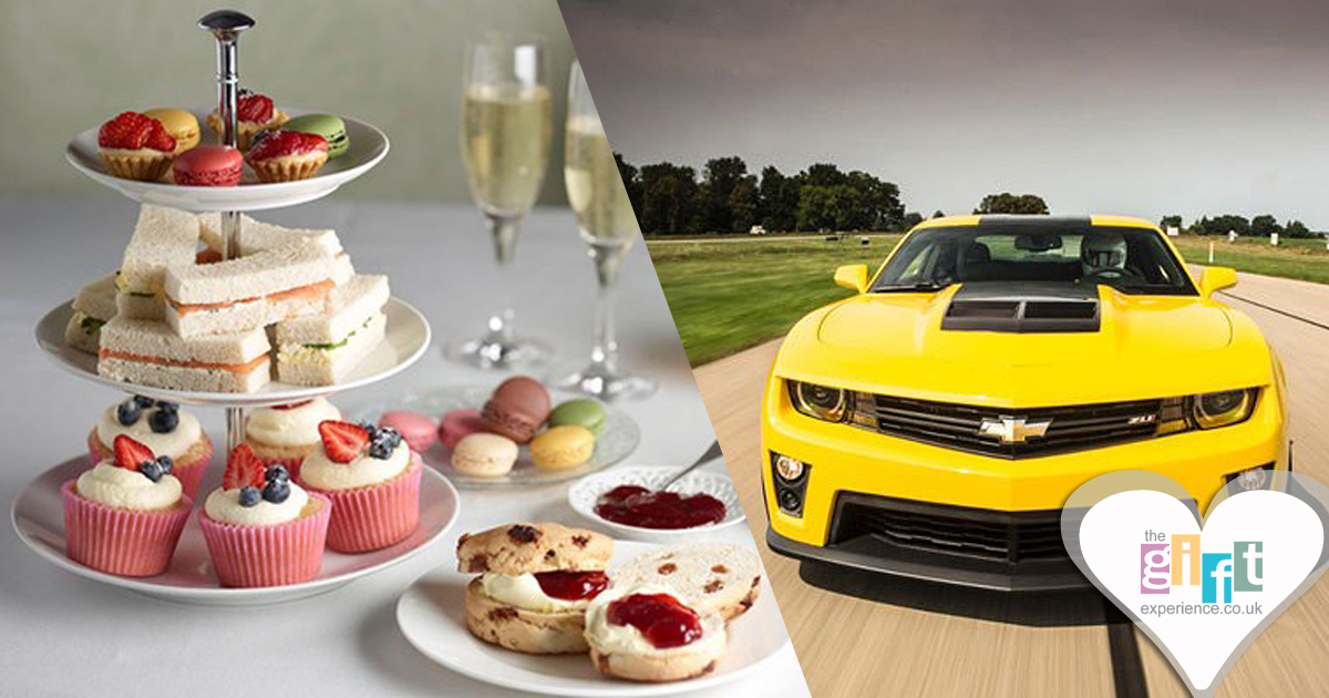Afternoon tea or Super Car Driving Thrill