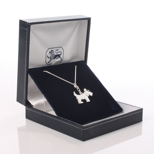 Scottie Dog Pendant With Personalised Gift Box - The Gift Experience Gifts