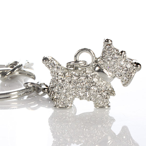 Bling Keyring - Scotty Dog - Dog Gifts