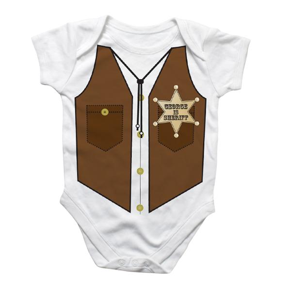 Personalised Sheriff Baby Grow - Babygrow Gifts