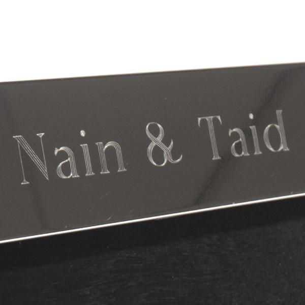 Nain & Taid Shiny Silver Frame - Shiny Gifts