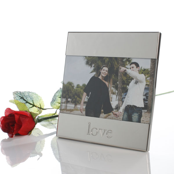 Shiny Metal Love Frame - Shiny Gifts