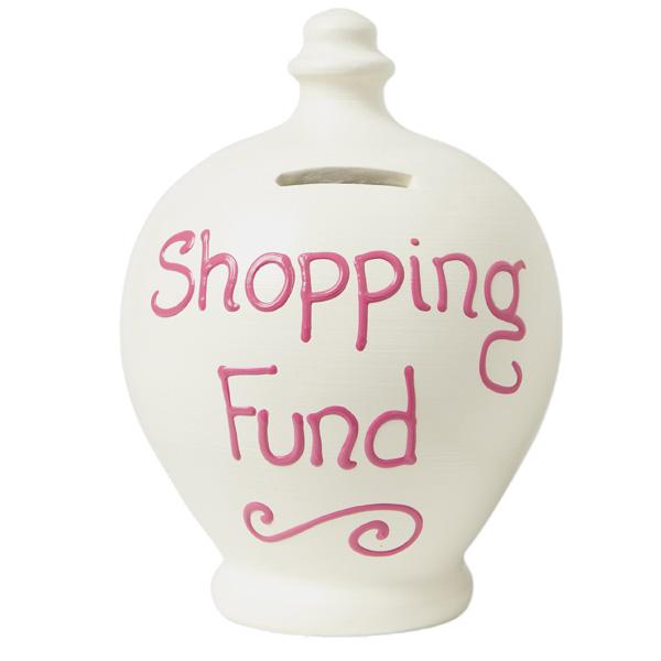 Shopping Fund Personalised Terramundi Money Pot - Money Gifts