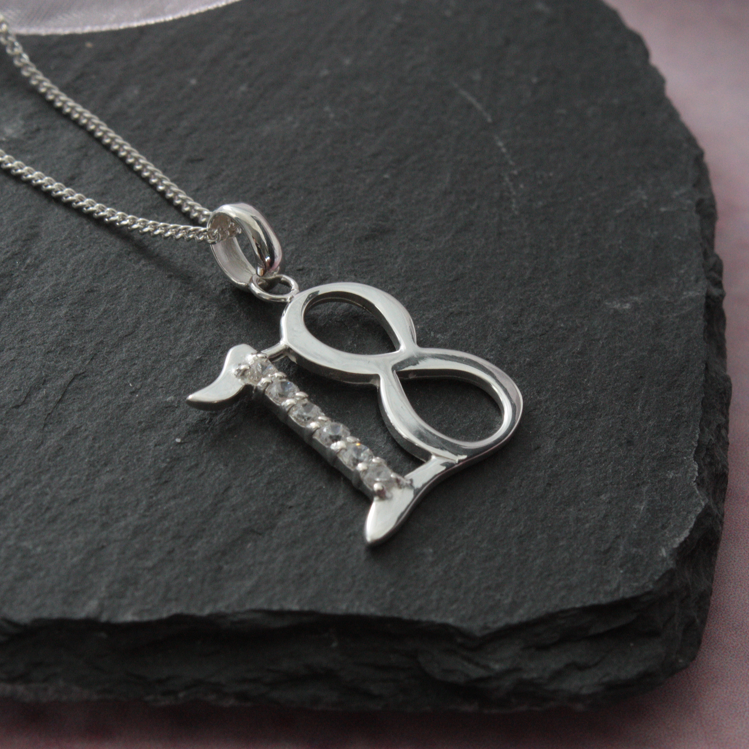 solid silver 18 necklace in personalised box