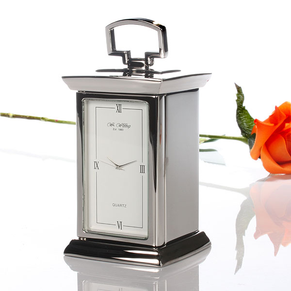 Silver Plated Personalised Carriage Clock