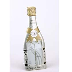 18th Birthday Champagne Bottle Frame - 18th gift