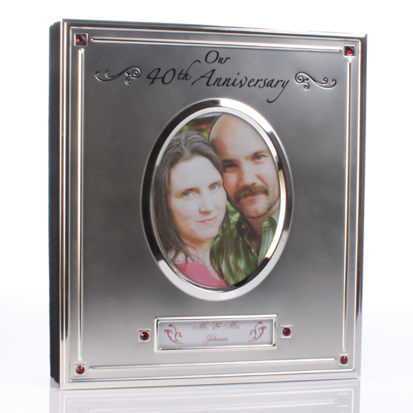 Silver Plated 40th Anniversary Album - 40th Gifts