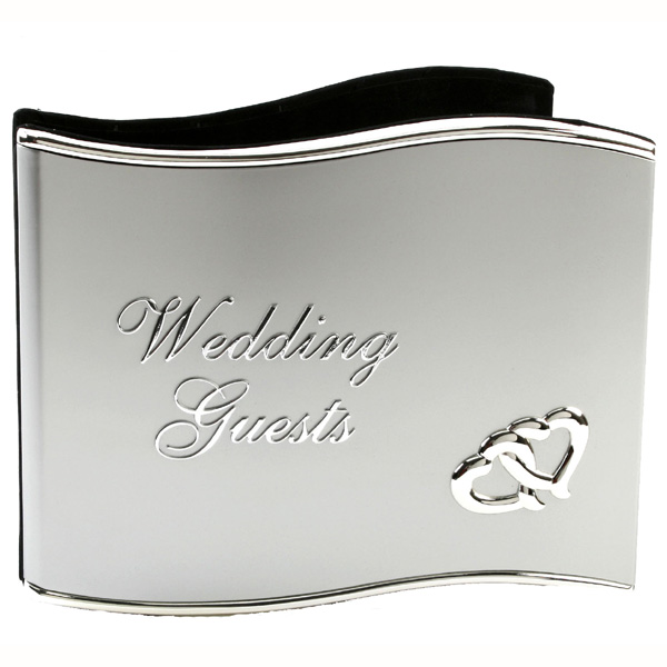 Silver Plated Wedding Guest Book