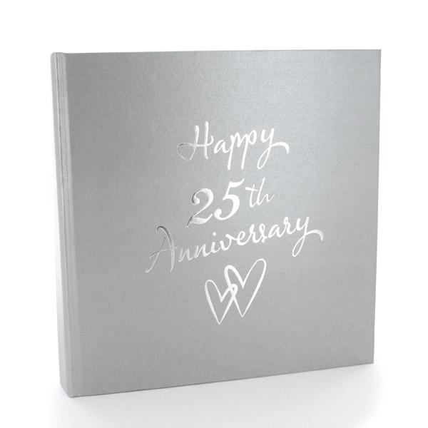 Silver Anniversary Photo Album - Photo Album Gifts